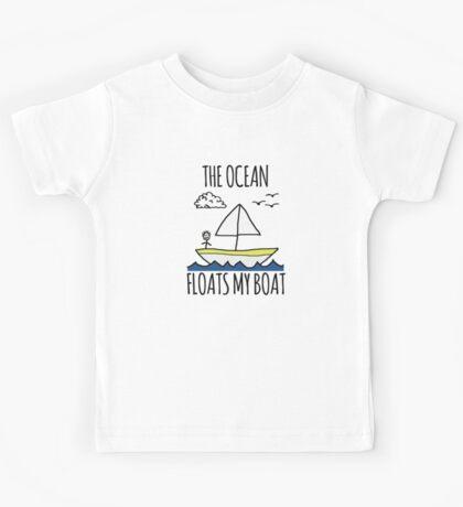 The Ocean Floats My Boat Kids Tee