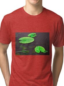 Baby Fish Swimming Around the Lily Pads Tri-blend T-Shirt