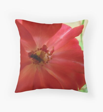 Sweet Succulent Nectar in the Rose Glow Throw Pillow
