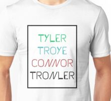 TRONLER (TYLER OAKLEY,TROYE SIVAN AND CONNOR FRANTA) Unisex T-Shirt