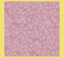 Vintage pink rectangle pattern Kids Tee