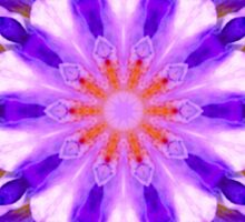 Purple Flower Floral Kaleidoscope Mandala Sticker