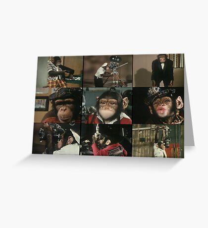 Monkey Film Greeting Card