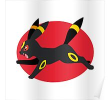 Umbreon - 2nd Gen - Leaping Poster