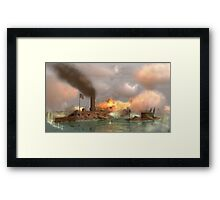 Battle of the Ironclads Framed Print