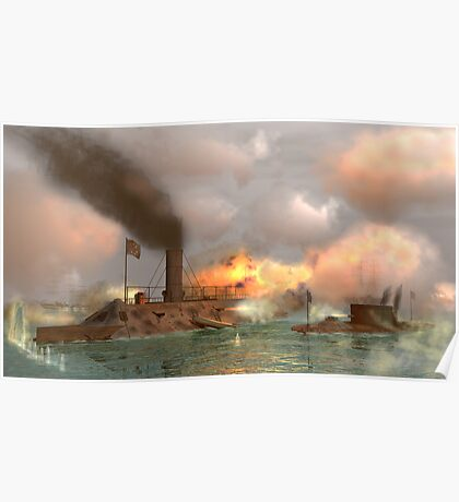 Battle of the Ironclads Poster
