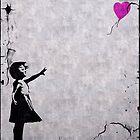 Banksy Balloon Girl by erogersss