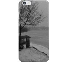 Snow is Falling in Lake Placid, NY iPhone Case/Skin