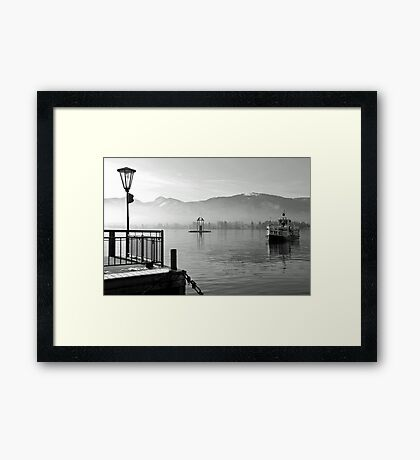 Anyone interested in a boat-trip? Framed Print