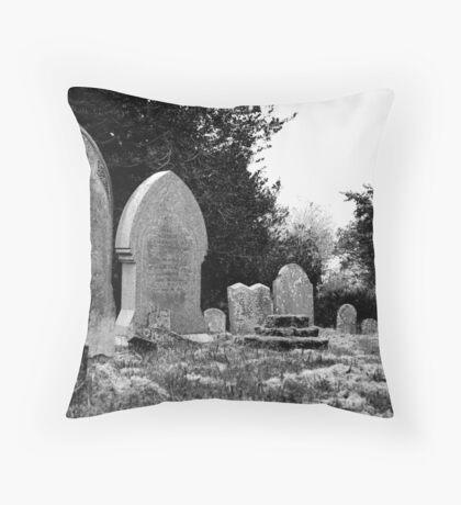 Gravestones Throw Pillow