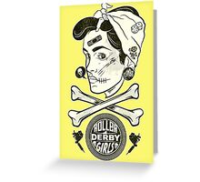 Zombie Roller Derby Girls Greeting Card