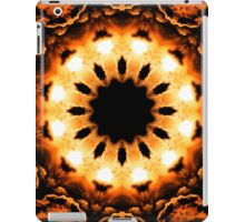 Orange Glow Kaleidoscope Mandala iPad Case/Skin