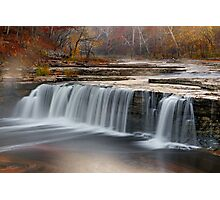 Misty Morning Waterfall Photographic Print