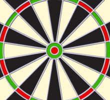 Dart Board, Darts, Arrows, Target, Bulls eye, Pub game, on Black Sticker