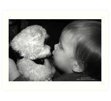 Teddy Bear Kisses Art Print