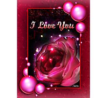 I Love You Valentine's Day Gift Photographic Print
