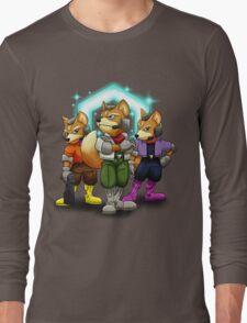 Fox Victory Pose T-Shirt  Long Sleeve T-Shirt