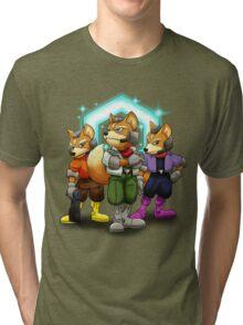 Fox Victory Pose T-Shirt  Tri-blend T-Shirt