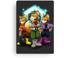 Fox Victory Pose T-Shirt  Canvas Print