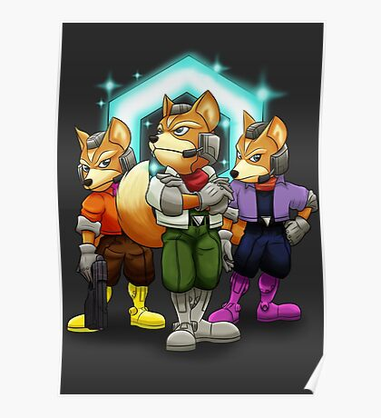 Fox Victory Pose T-Shirt  Poster