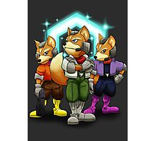 Fox Victory Pose T-Shirt  Photographic Print