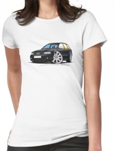 Audi RS4 Avant Black Womens Fitted T-Shirt