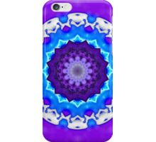 Blue, White and Purple Kaleidoscope Mandala iPhone Case/Skin