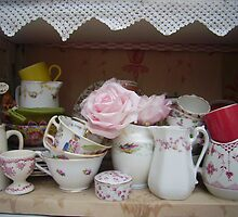 glass fronted cupboard pink by brigdale