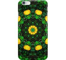 Yellow Green Poppy Kaleidoscope Mandala iPhone Case/Skin