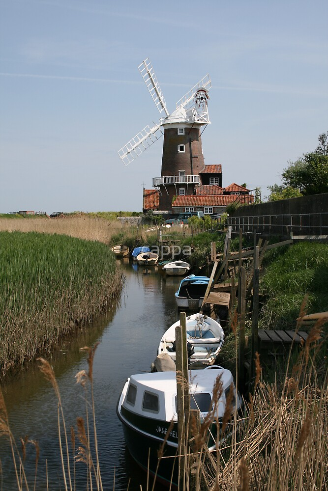 River Glaven and Cley Windmill  by cappa