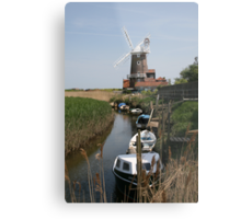 River Glaven and Cley Windmill  Metal Print