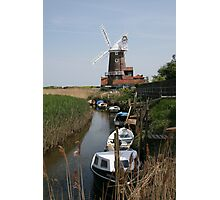 River Glaven and Cley Windmill  Photographic Print