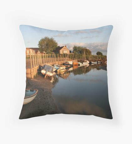 Sunrise at Blakeney Harbour Throw Pillow