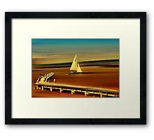 Looks like sailing Framed Print