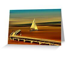 Looks like sailing Greeting Card
