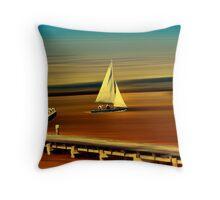 Looks like sailing Throw Pillow