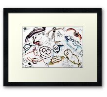 Assorted Doodles Framed Print