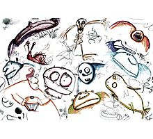 Assorted Doodles Photographic Print