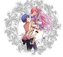 Angel Beats - Hideki Hinata & Yui by IzayaUke