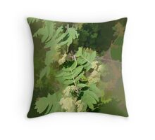 Abstract of Rowan Blossom (Mountain Ash) Throw Pillow