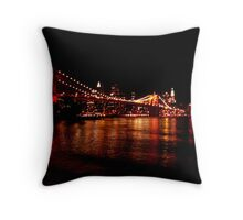 BROOKLYN BRIDGE 125TH ANNIVERSARY FESTIVITIES (3) Throw Pillow