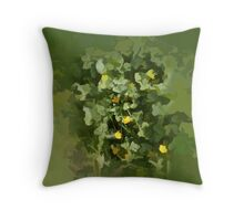 abstract of Marsh marigolds Throw Pillow