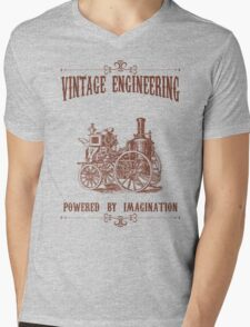 Vintage Engineering Mens V-Neck T-Shirt