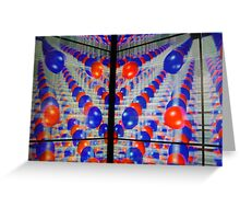 Another demension in Red & Blue Greeting Card