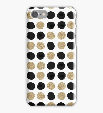 Sadie - Modern gold and black abstract brushstroke art glitter sparkle gifts for trendy gender neutral design iPhone Case/Skin