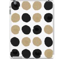 Sadie - Modern gold and black abstract brushstroke art glitter sparkle gifts for trendy gender neutral design iPad Case/Skin