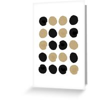 Sadie - Modern gold and black abstract brushstroke art glitter sparkle gifts for trendy gender neutral design Greeting Card