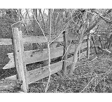 Falling Fence Photographic Print