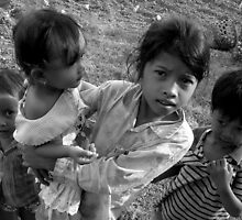 Cambodian Children by Natalie Broome