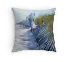 Shadows and Rhythm  (Seashore)  From original pastel painting by Madeleine Kelly Throw Pillow